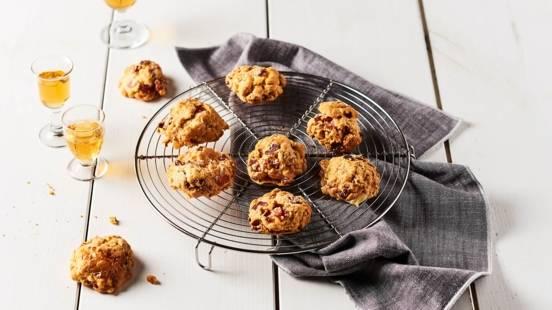 Mini cookies au jambon, Camembert et Calvados