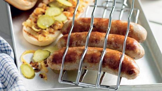 Hot dog grillé