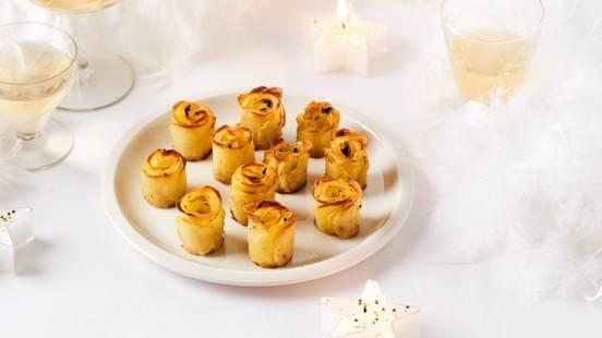 Roses de pommes de terre à la truffe