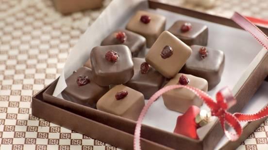 Chocolats maison aux canneberges