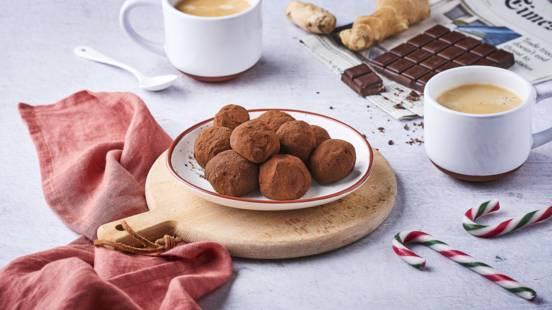 Truffes au chocolat au lait et gingembre