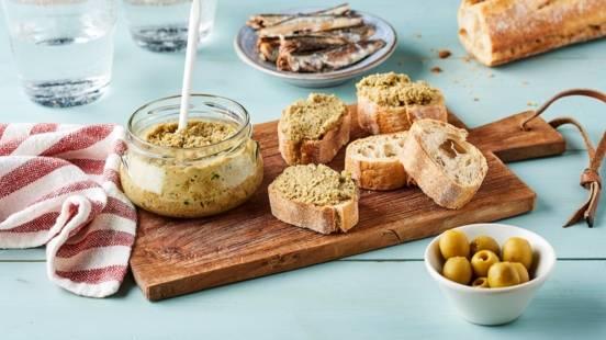 Tapenade olives vertes aux anchois