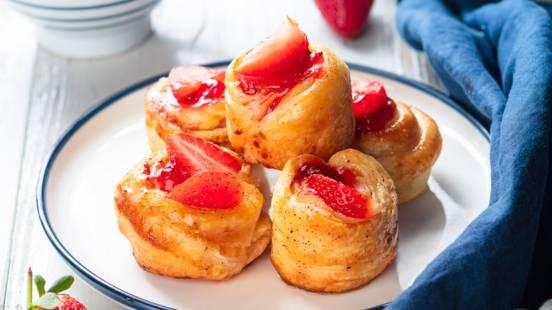 Mini kouign-amann aux fraises