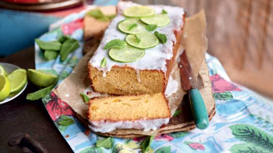 Cake à la mangue, glaçage façon Mojito