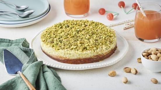 Gâteau nuage à la mousse de pistaches