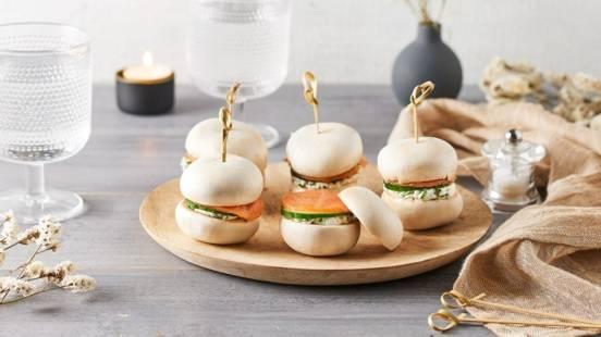 Mini burgers aux champignons de Paris