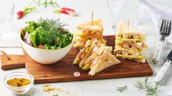 Club sandwich aux crevettes
