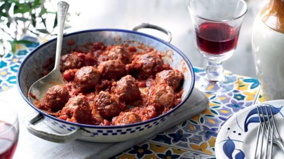 Albondigas (boulettes de viande à la sauce tomate au vin)