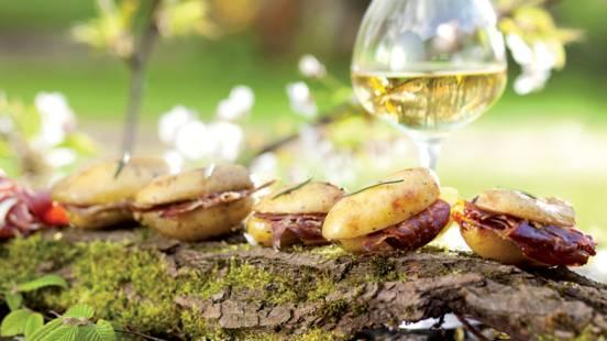 Papillotes de pommes de terre farcies au jambon espagnol