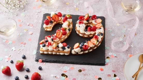 Number cake à la framboise