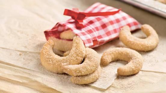 Croissants sablés à la cannelle