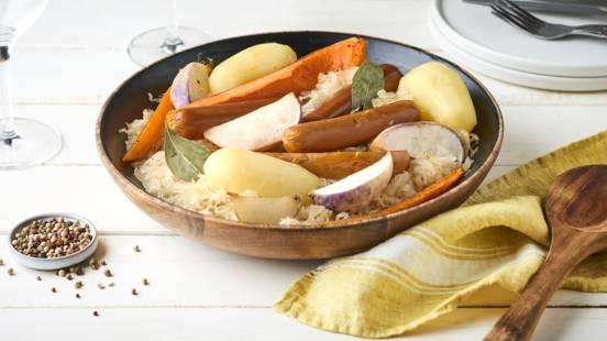 Choucroute végétarienne aux légumes rôtis