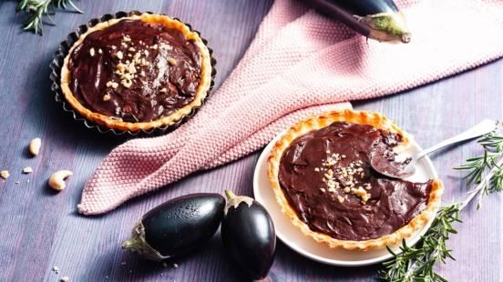 Tartelettes chocolat-aubergine