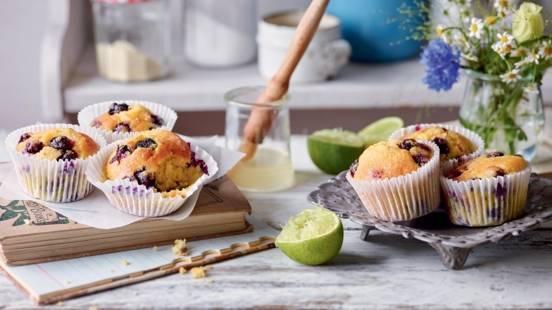 Muffins aux myrtilles et yaourt