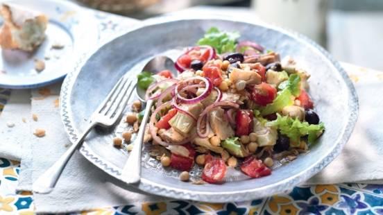 Salade de pois chiches au thon
