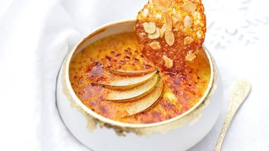 Crème brûlée aux poires