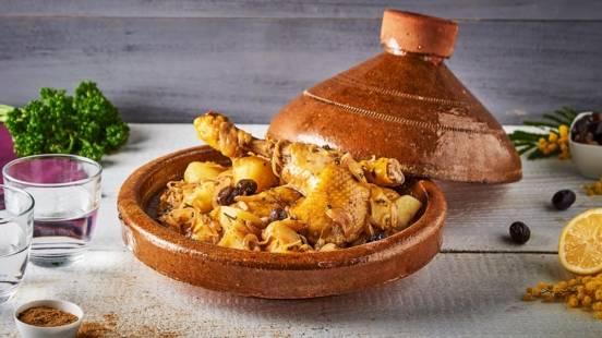 Tajine poulet aux olives, au citron et aux 5 épices