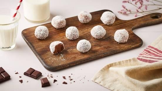 Boule de patate douce - chocolat et coco