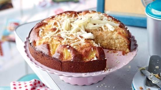 Gâteau à l'ananas et fruit de la passion