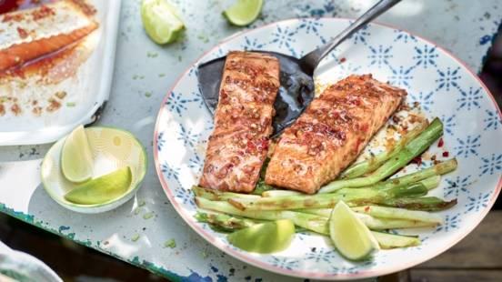 Pavés de saumon marinés à la thaïlandaise