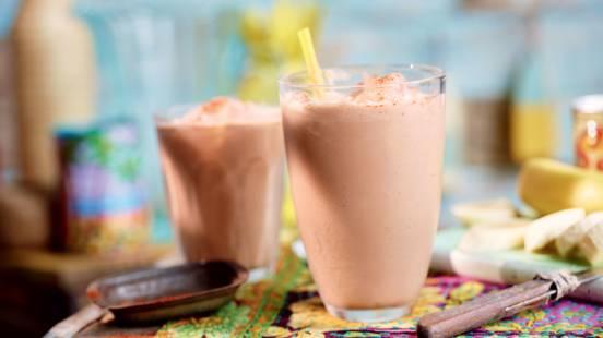 Cocktail rhum-banane-chocolat