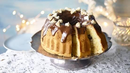 Bundt cake chocolat-nougat