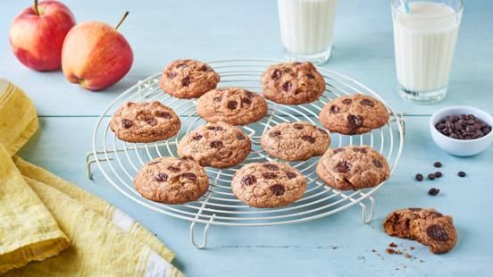 Cookies aux pommes caramélisées et pépites de chocolat noir