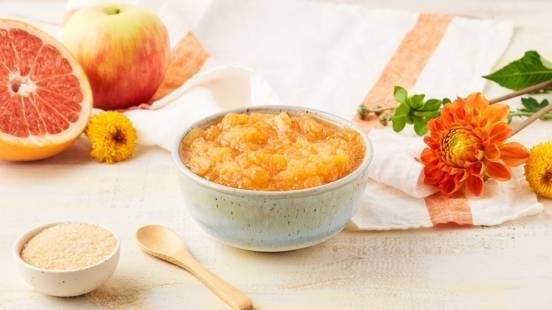 Compote de pommes et pamplemousse