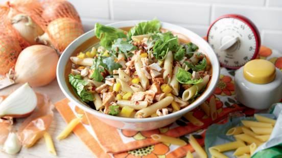 Salade express de pâtes au poulet