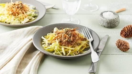 Salade de poireaux frits