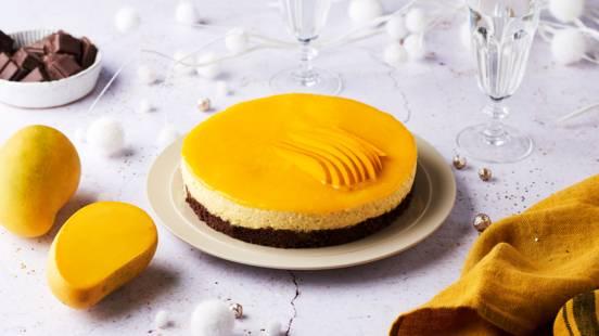 Bavarois chocolat et mangue