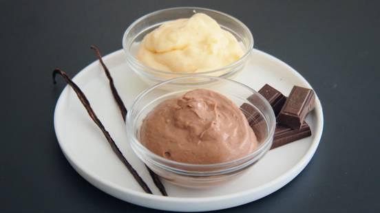 Crème pâtissière vanille et chocolat