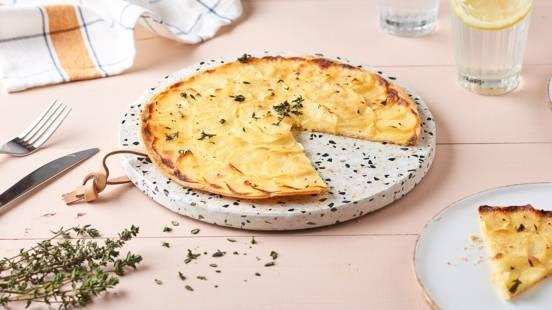 Tarte fine aux pommes de terre et thym