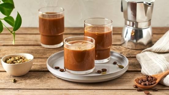 Café frappé au lait de coco