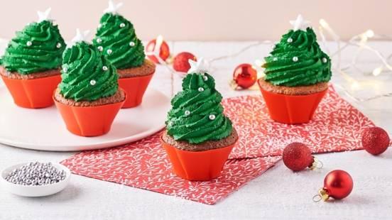 Cupcakes en forme de sapin