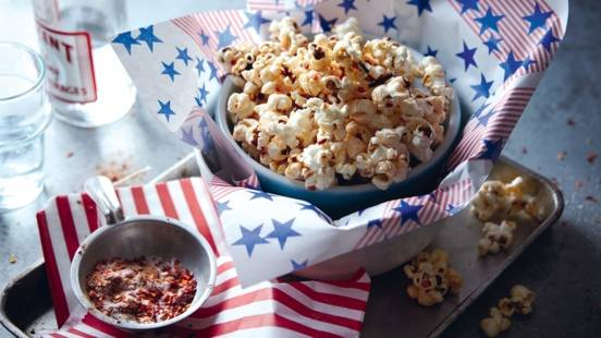 Pop-corn au piment et au caramel