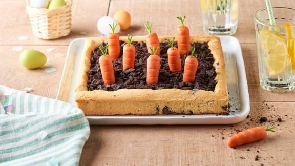 Potager cookie, crumble chocolat et carotte en pâte d'amande