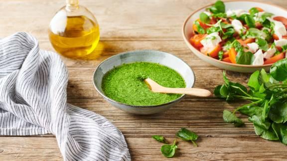 Pesto maison de cresson et amandes