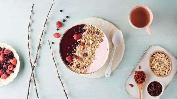 Smoothie bowl Granola aux fruits rouges