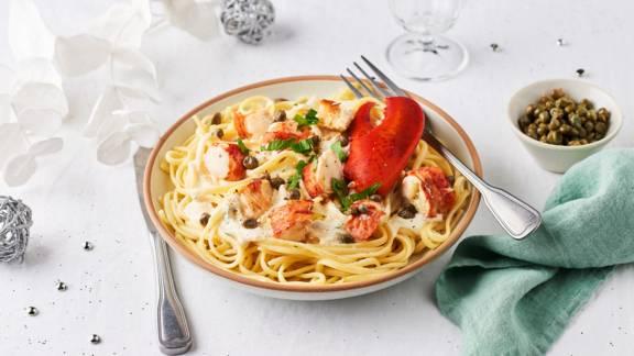 Linguine sauce crémeuse au homard