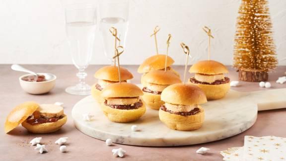 Minis burgers au foie gras et confiture de figues