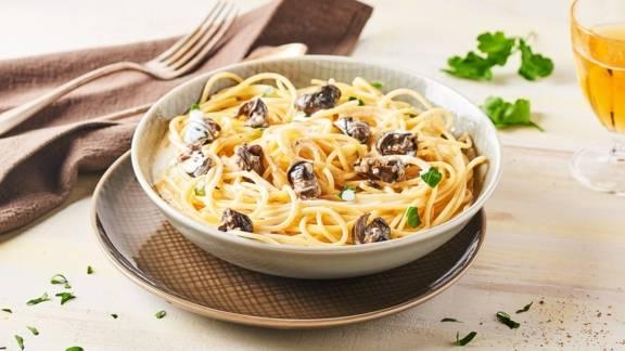 Spaghetti à la bière et aux escargots
