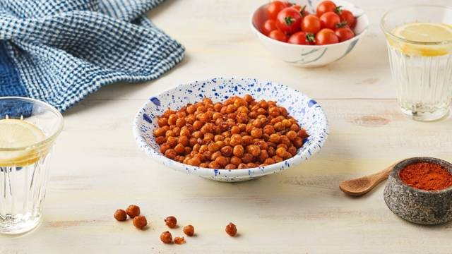 Pois chiches croquants au paprika