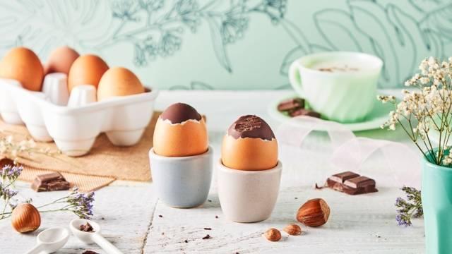 Œufs de pâques en chocolat maison
