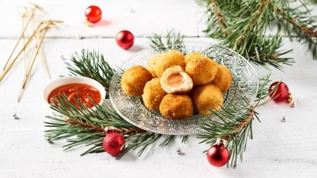 Croquettes de mozzarella et cœur de saucisses