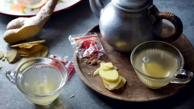 Infusion au gingembre et citron