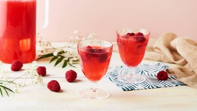 Cocktail rose givré