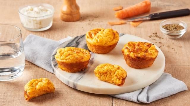 Mini-cakes carotte, chèvre et miel