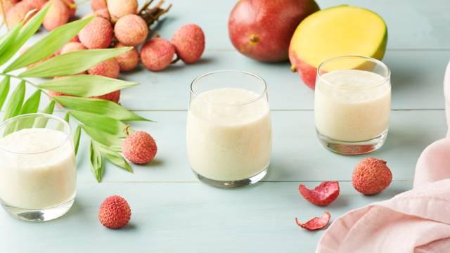 Smoothie litchis et mangue