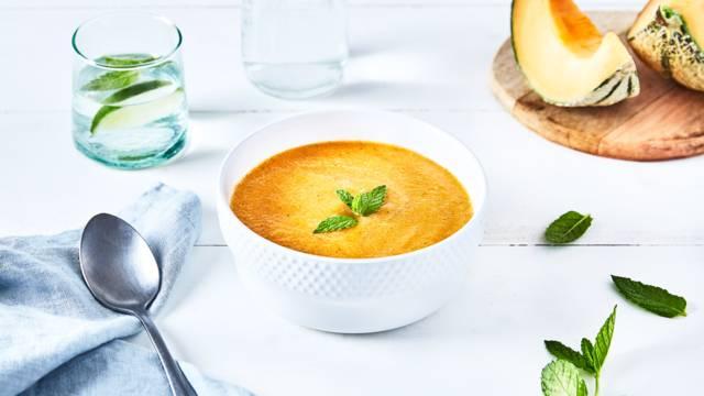 Soupe de melon glacé à la menthe
